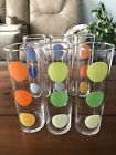 """ Tall Circles Drinking Glasses set of 6"