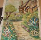 vintage embroidery sewn handwork antique sewn sweet garden floral flowers 2