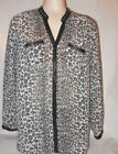 Torrid Womens Sheer Animal Print Long Sleeve Top Blouse Size 1 A1 021