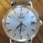 Mens Omega Automatic Seamaster De Ville Watch w/ Case Running but Needs Service
