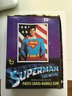 Superman first movie cards rare full box 1978