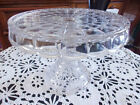 Indiana Clear Glass Constellation Round Pedestal Cake Pastry Stand 10