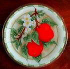 Peggy Karr Fused Art Glass 14 Round Apple  Blossoms Platter Mint Cond