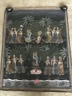 Very Nice Semi Antique Hindi Hindu Indian Painting on Silk Mughal Sawari 46 x 37