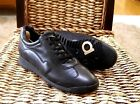 Salvatore Ferragamo Womens Size 55 C Black Leather Lace up Sneakers Trainers