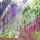 6 24pcs 34ft Artificial Wisteria Hanging Flower Vine Silk Wedding Decor Plant