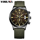 YISUYA Fashion Men Watches Chronograph Man's Quartz Wristwatches Cool Aviator