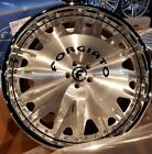 24 FORGIATO ENZO BRUSHED BLACK FORGED WHEELS JAGUAR XJ XJL SUPER CHARGED 5X108