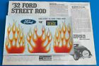 1/8 Scale : Decal & Instruction Booklet *-*  '32 Ford Street Rod   c 1977