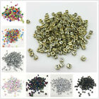 100pcs 6x6mm Alphabet Letter Beads Charms Bracelet Necklace For Jewelry Making