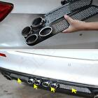 2x Universal Chrome Car simulation grid double cylinder exhaust pipe decoration