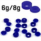 SMALL BLUE PLASTIC SCREW COVER CAPS HINGED FOLD OVER TO FIT SIZE 6g 8g GAUGE