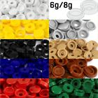 SMALL PLASTIC HINGED SCREW COVER CAPS WHITE YELLOW BLACK BLUE FOLD OVER 6g 8g