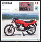 1977 Moto Guzzi 254 (231cc) 250 Italy Motorcycle Photo Spec Sheet Info Stat Card