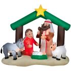 New Gemmy Airblown 7 ft Lighted Nativity Scene Christmas Inflatable