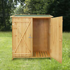 Kinbor Wooden Storage Shed Cabinet Garden Outdoor Fir Wood Lockers Double Doors