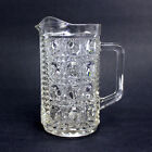 Federal Glass | WINDSOR BUTTON and CANE | One Pint Milk Pitcher | Clear Pressed