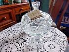 L.E Smith Crystal Moon and Stars Clear Footed Compote 10