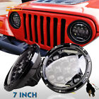 2X 7 Inch 75W Dual Beam LED Headlight DRL For 97 18 Jeep Wrangler JK YJ TJ CJ