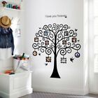Black Family Tree Wall Decal Sticker I lOVE U Vinyl Photo Wall Frame Removable