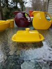 XL extra large COVERED BUTTER DISH daffodil yellow NEW HOMER LAUGHLIN FIESTA