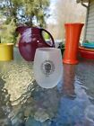 FIESTA glassware 15 oz STEMLESS WINE GOBLET glass FROSTED skull and vine NEW