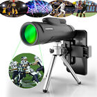 12X50 High Power Prism Monocular Telescope with Tripods and Smartphone Holder