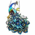 Stained Glass Window Panel Suncatcher Tiffany Style Peacock Design