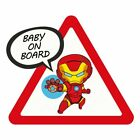 Baby Superhero On Board Vinyl Decals Avengers Batman Superman Wall Car Sticker