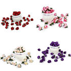 30pcs Small Silk Rose Bud Heads Artificial Fake Flower Wedding Party Decoration