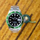 Rolex GREEN Submariner RARE 16610LV 2005 Kermit Stainless Diver UNPOLISHED Box
