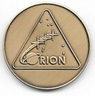 NASA ORION PROGRAM LOGO MINTED ANTIQUE BRONZE COIN