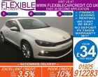 2010 VW SCIROCCO 20 TDI 140 GOOD BAD CREDIT CAR FINANCE FROM 34 P WK