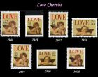 RJames Love Cherubs Set 2948 2949 2957 2958 2959 2960 3030 MNH VF