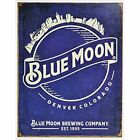 Blue Moon Beer Skyline Metal Tin Vintage, Retro Sign, 12.5 X 16 Inches By Ent.