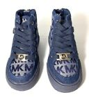 Michael Kors Denim Navy Blue Priscilla 2 High Tops Sneakers Shoes Toddler Size 5