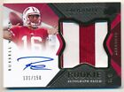 RUSSELL WILSON 2012 UD EXQUISITE RC ROOKIE AUTOGRAPH 2 COLOR PATCH AUTO SP # 150