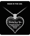 To My Daughter Pendants Daddy Loves You Silver Heart Necklace From Father