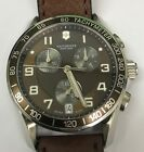 *Used* VICTORINOX Swiss Army Chrono Classic Brown Dial Men's Watch 241498