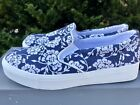 ANN TAYLOR LOFT Slip On Fresh Navy FLORAL SNEAKERS SHOES Size 6 New in Box