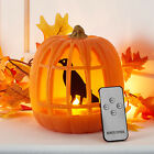 Halloween Battery LED Pumpkin Light Decoration with Crow  Remote Control