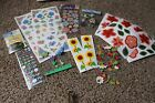 Scrapbooking stickers embellishments rub ons flowers floral ladybugs daisies