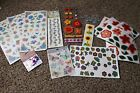 Scrapbooking stickers embellishments rub ons flowers floral dragonfly butterfly