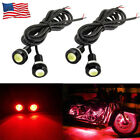 4xRed LED Street Fighter Front Fairing DRL Evil Sinister Demon Motorcycle lights