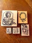 5 Collage Art Rubber Stamps Magenta Acey Duecy Stamp Francisco