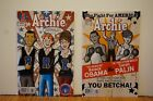 2x OBAMA  SARAH PALIN  BOXING Cover  in ARCHIE Comics  617 2010 Riverdale