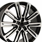 20x9 Wheels Fit Audi A Series A7 Style Black Machd Rims Hollander 58982 SET OEW