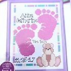 Janlynn Baby Footprints Birth Announcement Counted Cross Stitch Kit NEW 999 1003