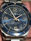 Bell & Ross BR v2-92 Aeronaval Automatic Watch Blue Gilt Dial Full Kit Warranty