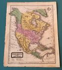 Woodbridge School Atlas 1829 NORTH AMERICA 12 X 10 Hand Colored ORIGINAL